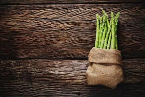 Asparagus in bag photo