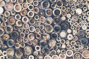 Fondo de textura de círculos de bambú