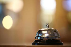 Service bell on bokeh background