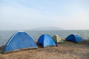 camping en el mar