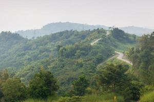 Curvy roads on a mountain in Thailand