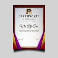 elegante plantilla de archivo de certificado de diploma vector