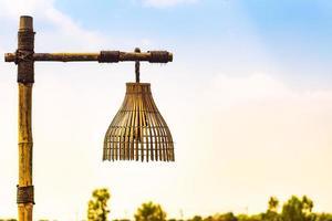 Bamboo lantern basket