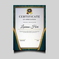 hermosa plantilla de archivo de certificado de diploma vector