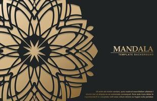 Fondo de patrón islámico de estilo árabe arabesco dorado vector