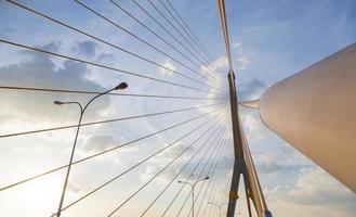 Rama VIII Bridge in Bangkok photo