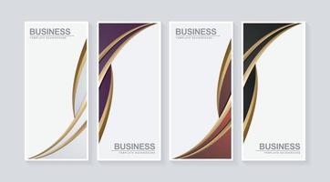 banner vertical de negocios de lujo en diseño de onda