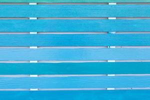 Blue wooden balcony photo