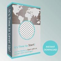 Creative 3D Box Promotional Design vector