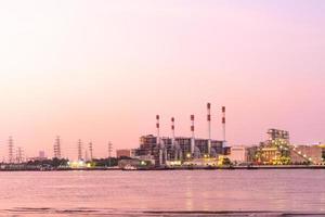 Power plant in Bangkok at sunset