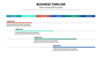 Abstract business Timeline infographic template vector