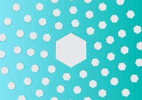 Abstract circular hexagon background vector