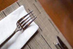 Fork on a napkin