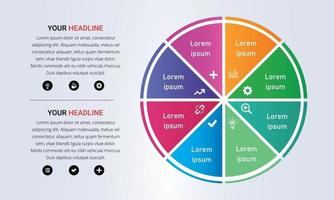 Colorful 8 Steps Circle Infographic With Gradient Colors vector