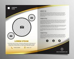 Business Wavy Front and Back Bifold Brochure Template vector