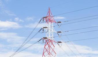 High voltage transmission pole