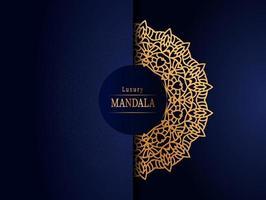 Luxury mandala design golden abstract background vector