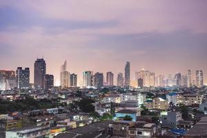 rascacielos en la ciudad de bangkok