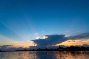 Sky and cloudscape at sunset photo