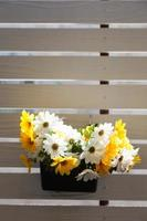 Flowers on a balcony photo