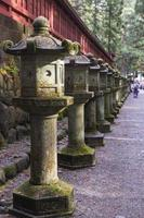 Ancient stone lanterns in Japan