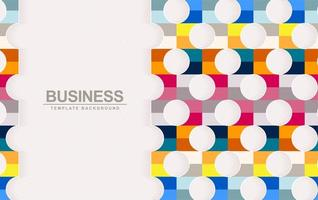 Geometric background with colorful shapes vector