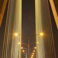 Lamps on the bridge photo