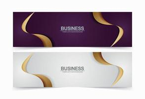 conjunto de fondos de onda de banner de lujo vector