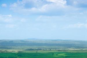 Forest and agricultural areas in Thailand photo