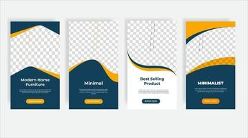 Modern home furniture social media post template banner vector