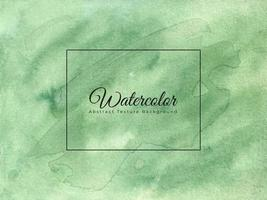 Watercolor abstract background in green color vector