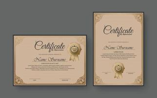 Classic certificate award design template set vector
