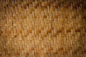 bambú tejido para textura o fondo foto