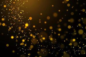 Blurred gold circles on black background
