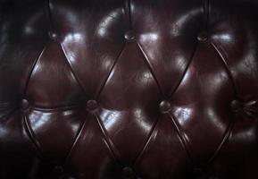 Close-up de sofá de cuero marrón para textura o fondo