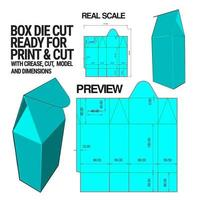 Box Die Cut Cube Template With 3d Preview Organised With Cut, Crease, Model And Dimensions Ready To Cut And Print, Full Scale And Fully Functional. Prepared For Real Cardboard