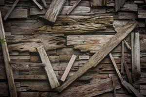 Disposición de tablones de madera para textura o fondo.