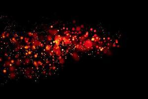círculos rojos borrosos con fondo negro