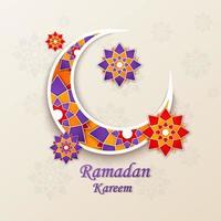 Ramadan kareem concept horizontal banner vector