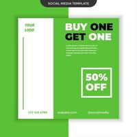 Social media buy one get one template. easy to use. premium vector