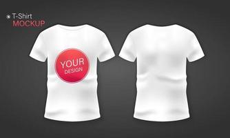 camiseta de hombre blanco maqueta realista vector