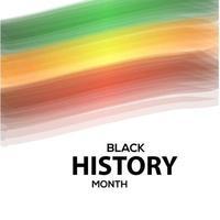 Ilustración de diseño de plantilla de vector de celebración de mes de historia negra