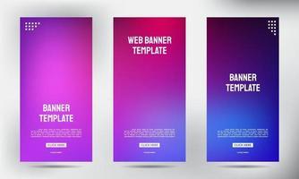 Conjunto de banners de volante de folleto comercial enrollable borroso