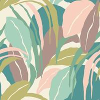patrón artístico sin fisuras con hojas abstractas. diseño moderno. vector