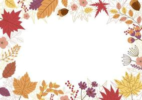 Autumn leaves design on white background vector