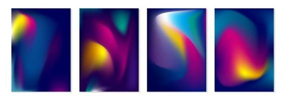 Abstract colorful flow background vector illustration