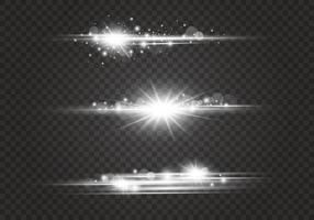destellos de lente y efectos de iluminación vector