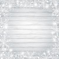 diseño de fondo de navidad de copo de nieve en la madera
