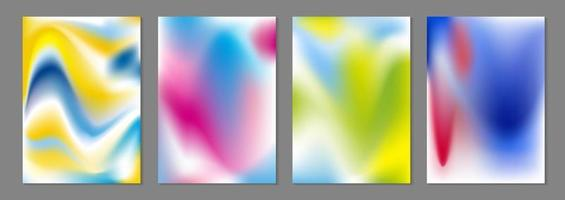 Abstract color flow background vector illustration