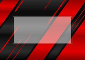 Abstract frame with black and red metal background vector editable design